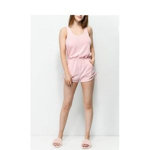 Pink Terry Romper